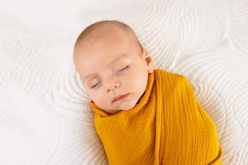Zavinovačka mušelínová BabyMatex - kurkuma  - 3