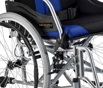 Invalidní vozík Timago Premium (C2600) 48 cm / černo-modrý - 3