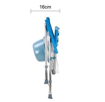 Toaletní a sprchové křeslo skládací výškově nastavitelné AR-104  - 4