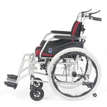 Invalidní vozík Timago WA C2600 48 cm / černo-bordó - 4