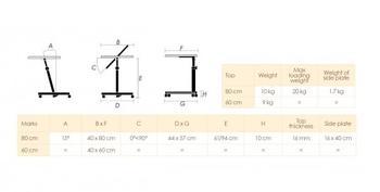 Stolek přilůžkový Diffusion 60x40, ořech  - 4