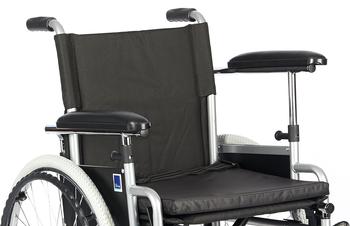 Invalidní vozík Timago H011 43 cm / stříbrná, nosnost 115 kg - 4