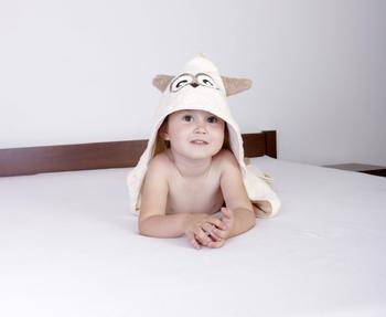 Osuška s kapucí Baby Matex Jimmy - sova  - 4