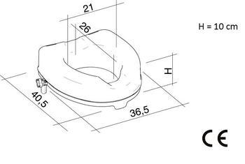 Nástavec na WC 10cm s poklopem  - 4