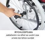 Invalidní vozík Timago WA C2600, černo-bordó - 4/4