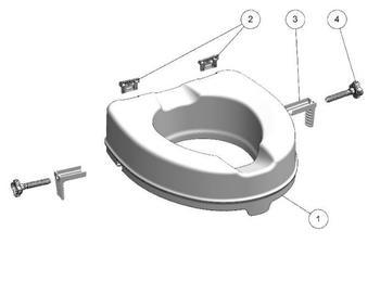 Nástavec na WC 10cm  - 4