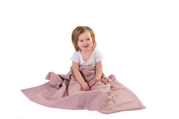 Dětská mušelínová deka BabyMatex - růžová  - 4