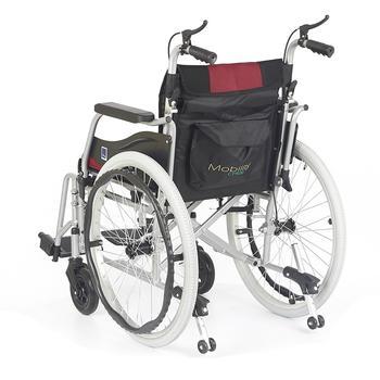 Invalidní vozík Timago WA C2600 46 cm / černo-bordó - 5