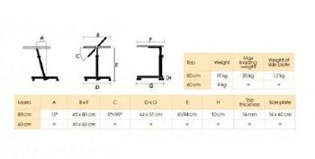 Stolek přilůžkový Diffusion 80x40, ořech  - 5