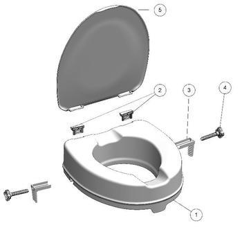 Nástavec na WC 10cm s poklopem  - 5