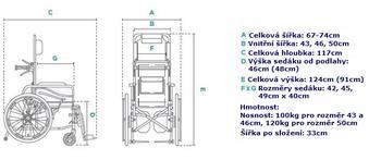 Invalidní vozík polohovací Timago ALH008  - 7