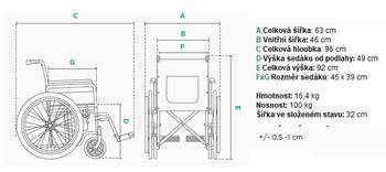 Invalidní vozík Timago FS901  - 7